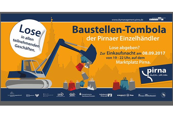 Banner Baustellentombola Pirna - Grafik Design - Mario Kegel - photokDE