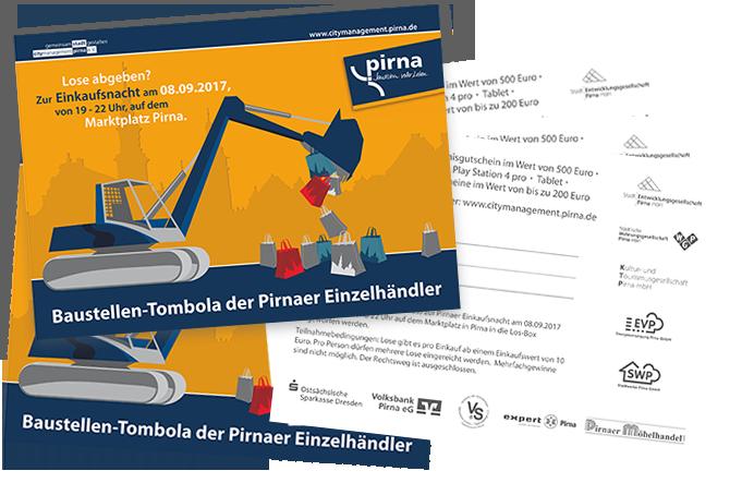 Los Baustellentombola Pirna - Grafik Design - Mario Kegel - photokDE