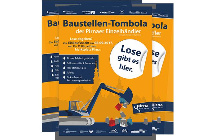 Plakat Baustellentombola Pirna - Grafik Design - Mario Kegel - photokDE
