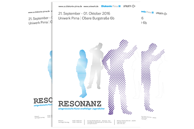 Plakat Ausstellung Resonanz Pirna - Grafik Design - Mario Kegel - photokDE